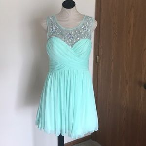 Sea foam green homecoming/prom dress